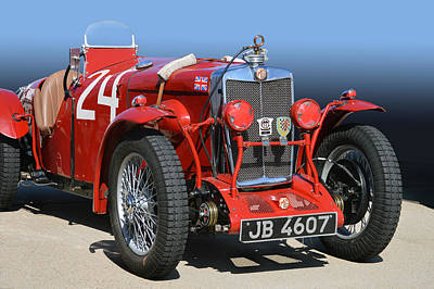 Photograph - Mg Ne Racing Magnette  by Bill Dutting