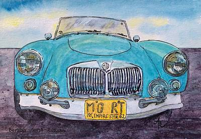 Painting - Mg Roadster To Race And Restore by Anna Ruzsan
