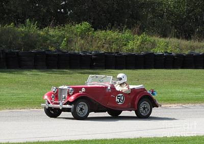 Photograph - Mg Tc Racer by Neil Zimmerman