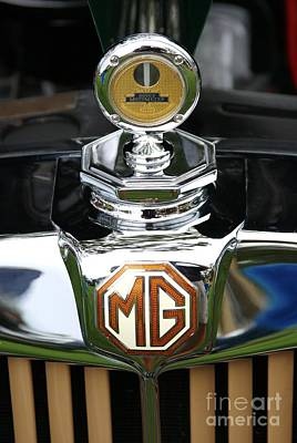 Photograph - Mg Td Radiator Emblem by Neil Zimmerman