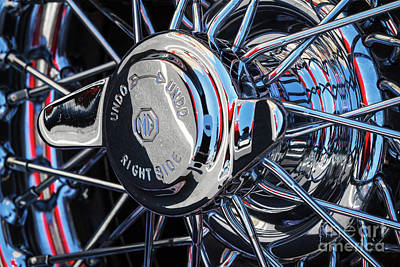 Photograph - Mg Wire Wheel by Dennis Hedberg