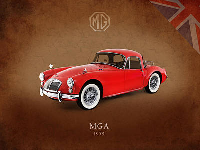 Vintage Mg Photograph - Mga 1959 by Mark Rogan