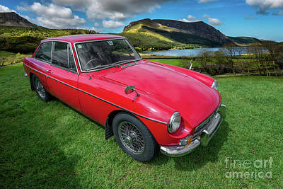 Red Farmhouse Photograph - Mgb Gt by Adrian Evans