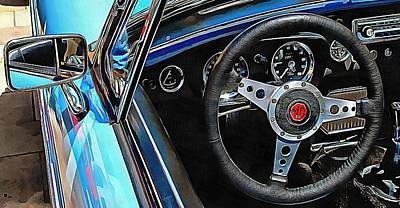 Photograph - Mgb Through The Window by Dorothy Berry-Lound