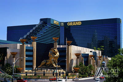 Mgm Grand Hotel Casino Art Print by Mariola Bitner