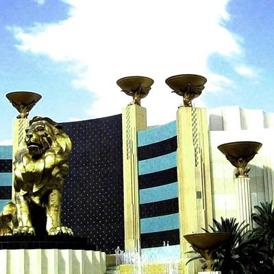 Photograph - Mgm Lion In Las Vegas by Will Borden