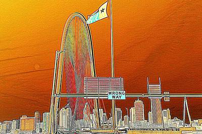 Photograph - Mhh Bridge Abstract by Diana Mary Sharpton