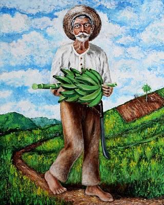 Jibaros Painting - Mi Pan Es Tu Pan... by Edgar Torres