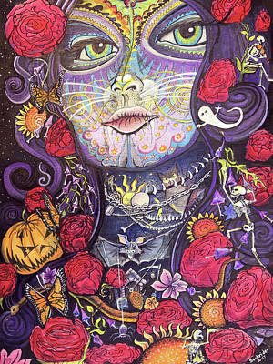 Painting - Mia De Los Muertos by David Sockrider