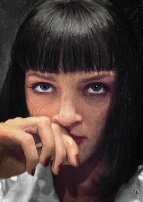 Painting - Mia Wallace - Pulp Fiction by Taylan Apukovska