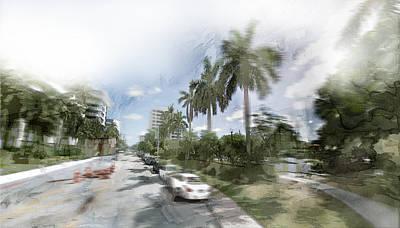 White Painting - Miami 17 by Jani Heinonen