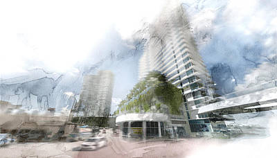 Beverly Hills Drawing - Miami 25 by Jani Heinonen