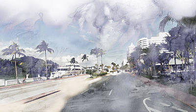 Street Painting - Miami 875674 by Jani Heinonen