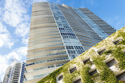 Photograph - Miami Beach Florida Condos Curvy Building by Toby McGuire