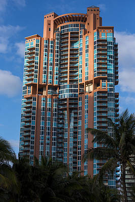 Photograph - Miami Beach Florida Portofino Tower by Toby McGuire