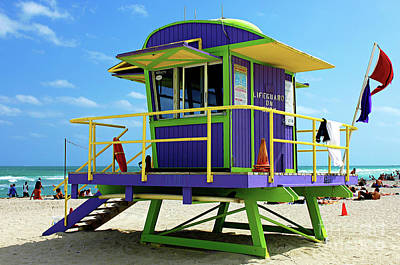 Photograph - Miami Beach Life Guard Stand by Bob Christopher