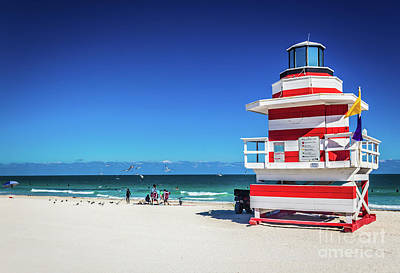 Photograph - Miami Beach Lifeguard 4463 by Carlos Diaz