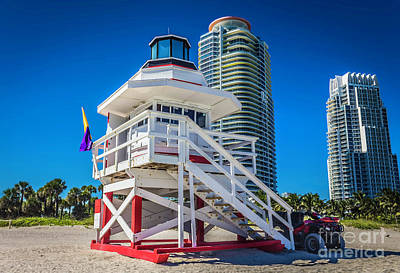 Photograph - Miami Beach Lifeguard 4465 by Carlos Diaz