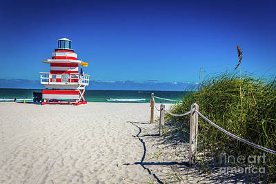 Photograph - Miami Beach Lifeguard 4467 by Carlos Diaz