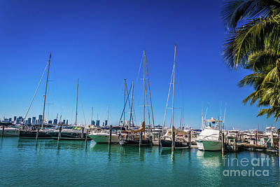 Photograph - Miami Beach Marina 4509 by Carlos Diaz