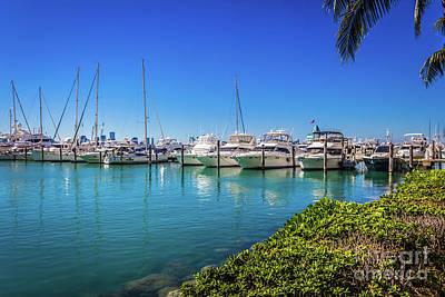 Photograph - Miami Beach Marina 4520 by Carlos Diaz