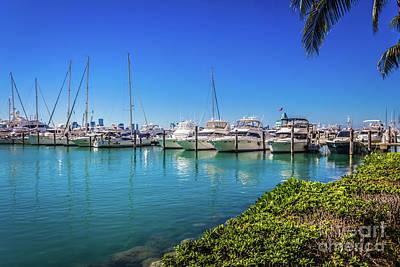 Photograph - Miami Beach Marina 4520 by Carlos Diaz