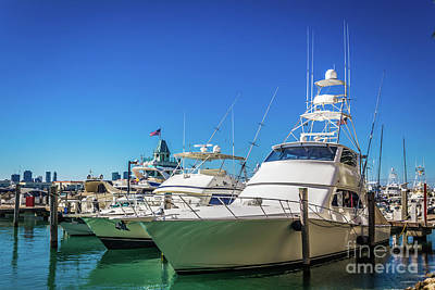 Photograph - Miami Beach Marina 4528 by Carlos Diaz