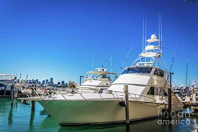 Photograph - Miami Beach Marina 4529 by Carlos Diaz