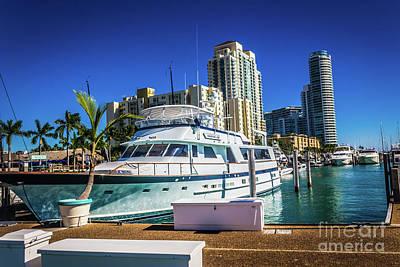 Photograph - Miami Beach Marina 4552 by Carlos Diaz