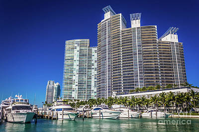 Photograph - Miami Beach Marina 4563 by Carlos Diaz