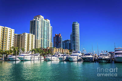 Photograph - Miami Beach Marina 4571 by Carlos Diaz