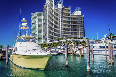 Photograph - Miami Beach Marina 4575 by Carlos Diaz
