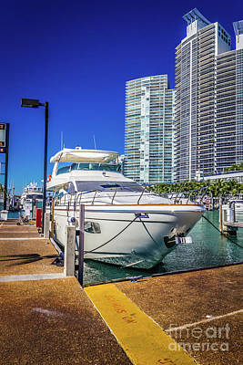 Photograph - Miami Beach Marina 4578 by Carlos Diaz