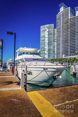 Photograph - Miami Beach Marina 4578 by Carlos Diaz