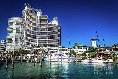 Photograph - Miami Beach Marina 4573 by Carlos Diaz