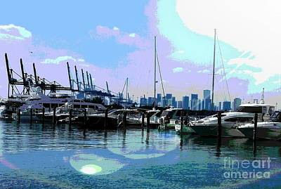 Miami Beach Marina  Original by Roesch