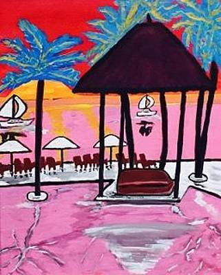 Painting - Miami Beach Painting. Original  by Jonathon Hansen
