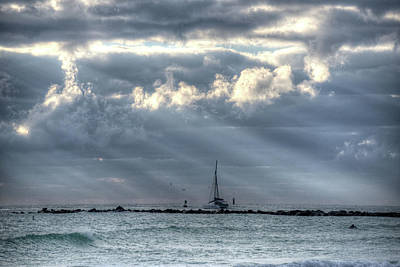 Photograph - Miami Beach Sailboat Miami Fl by Toby McGuire