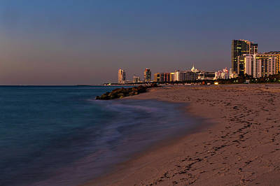Photograph - Miami Beach Twilight by Penny Meyers