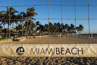 Photograph - Miami Beach Volleyball Net Lummus Park by Toby McGuire