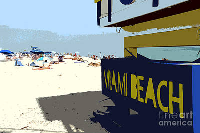 Miami Beach Work Number 1 Art Print by David Lee Thompson