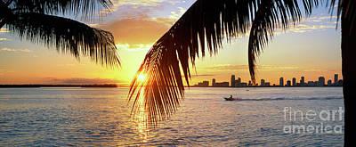 Photograph - Miami Biscayne Bay by David Zanzinger