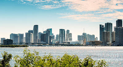 Photograph - Miami City Skyline And Skyscrapers  by Rene Triay Photography