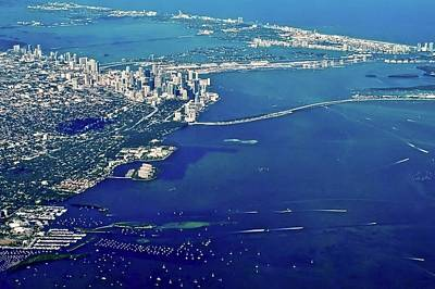Photograph - Miami Coastal Aerial by Kirsten Giving