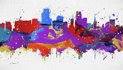 Painting - Miami Colorful Skyline by Dan Sproul