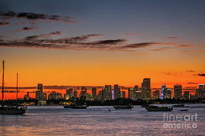 Photograph - Miami Coming To Life At Sunset by Rene Triay Photography