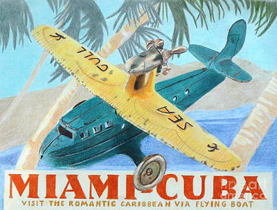 Miami-cuba Art Print by Glenda Zuckerman