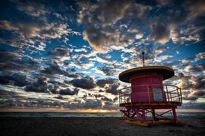 Photograph - Miami Dawn by Dave Bowman