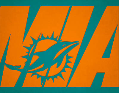 Photograph - Miami Dolphins City Name by Joe Hamilton