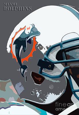 Miami Dolphins Football Team Art Print